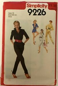 Vintage 1979 Simplicity 9226 Sewing Pattern Jumpsuit Size 10 Unused