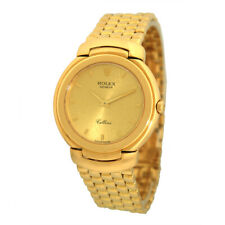 ROLEX 18K Yellow Gold 33mm Cellini 6622/8 18K Yellow Gold Bracelet Box Warranty