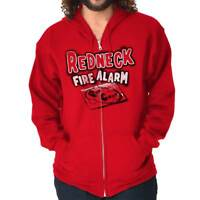 Red-Neck Fire Alarm Funny Shirt | Down South Cowboy Rancher Zip Hoodie