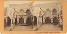 JERUSALEM maison de Caïphe Terre Sainte Religion Stereo J. Andrieu Albumine