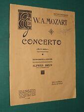 """Partition Violon acc. piano """"Concerto en La majeur"""" Op. 20  MOZART"""