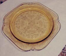 Depression Glass MADRID plate Amber Color