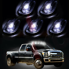 5X Clear Led Cab Roof Top Marker Running Light & Free Blub For 2012-16 Dodge Ram
