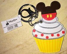 Disney Parks Mickey Cupcake Keychain and Pocket Mirror