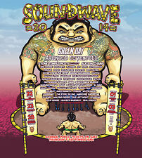 "Green Day ""Soundwave 2014 Australian Music Fest"" Concert Tour Poster - Punk Rock"