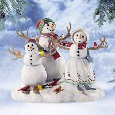 New! Lenox Birds of a Feather Snowman Family Sculpture-Snow Kids-Lynn Bywaters