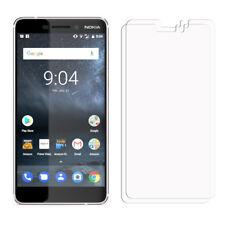 2 frontal transparente Nokia 6 2018 Lámina Film Protector de Pantalla LCD