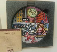 "RED GROOMS Moonstruck Modern POP Art Ceramic Plate LIMITED EDITION COA ""AS IS"""