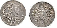 Rare 1591 Poland- Silver 3 Gr. Troyak-Sigizmund III Vaza-ever 400 years old-Nice
