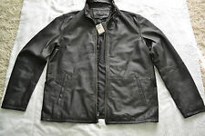 John Varvatos Star USA Men's Zip-Front Leather Jacket Brand new Black Size XL