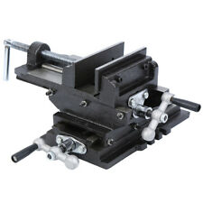 "5"" Cross Drill Press Vise Slide Metal Milling 2 Way Clamp Machine Heavy Duty"