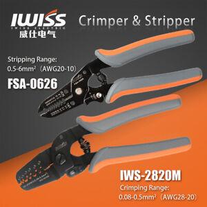 IWISS Micro Open Barrel Crimper Tools IWS-2820 for 28-20AWG + FSA-0626 Stripper