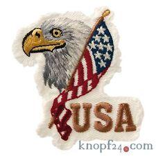 Applikation zum Aufbügeln USA-Flagge / Adler (#78325)