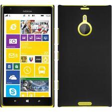 Hardcase für  Nokia Lumia 1520 Hülle schwarz gummiert + 2 Schutzfolien