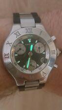 Reloj Cronógrafo Cartier Chronoscaph 21 Caballeros Sport Reloj para Hombre de Acero Inoxidable