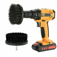 """1x Black color 4"""" Drill Brush Tile Grout Power Scrubber Cleaning Attachment"""