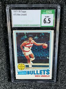 1977 Topps Basketball #75 Wes Unseld CSG 6.5 EX/NM+