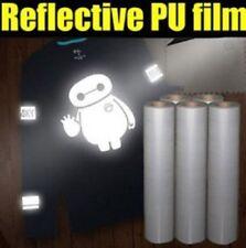 1mx50cm PU T-shirt Heating Transfer Silver Reflective vinyl