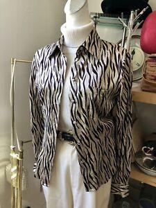 Vintage Y2K Paris chic shirt top with animal print