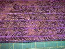artisan elemental batiks feathery purples cotton quilt fabric -  2 yds x 44""