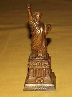 "VINTAGE 5"" HIGH METAL STATUE OF LIBERTY NEW YORK NY SOUVENIR"