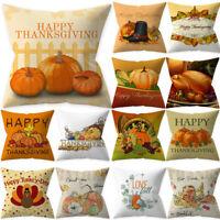 Thanksgiving Pumpkin Throw Pillow Cover Pillowcase Decorative Sofa Cushion Cover