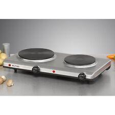 Eltac DK 29 acero inoxidable doble placa de cocina régimen progresivo de protección frente a sobrecalentamiento