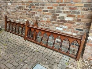 CHURCH COMMUNION RAILS RECLAIMED BANNISTER HANDRAIL VICTORIAN ARCHITECTURAL WOOD