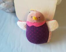 Doudou hochet violet pois Oiseau plat Les Cousins du MOULIN ROTY NEUF