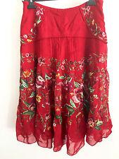 Vintage India Skirt Banjara Tribal Kuchi Gypsy Art Boho Sequins Embossment S M