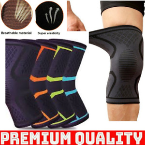 2 Knee Support Brace Compression Sleeve For fitness Running Sports Arthritis Gym