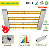 2000W Pro 4Bar LED Grow Light Full Spectrum Dimmable Sunlike Quantum Board Lamp