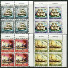 PAPUA NEW GUINEA - 1988 'HISTORICAL SAILING SHIPS' Set of 4 Blocks MNH [B2487]