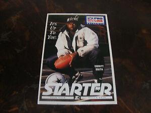 Pro Line Authentic---Emmitt Smith---Starter Jacket Card---3x4---XHTF