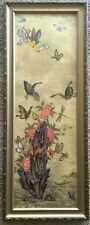 Korean Painting On Paper Butterflies Floral Scene