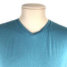 21MEN - Forever 21 Men's Tee Shirt V-Neck Green Short Sleeve Size Medium