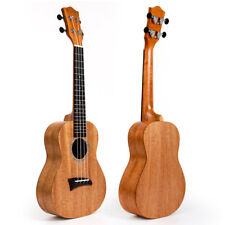 Solid Mahogany Top Concert Ukulele Hawaii Guitar Bridge Matt 23 inch