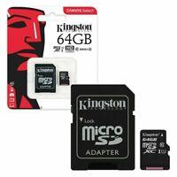 Kingston Micro SD SDHC Memory Card TF Class 10 16GB 32GB 64GB