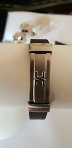 Rubber bracelet Centre Element Copper, Stainless steel save 30% one only