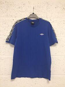 Umbro Blue Cotton Logo T-Shirt - Vintage Retro 90s Y2K Sports Style - Size L