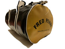 Fred Perry Black & Yellow Barrel Bag, Gym Bag, One Size, NEW