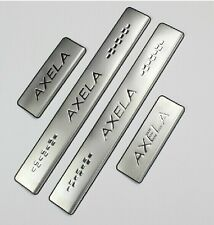 Stainless Steel Door Sill Protectors Scuff Plate For 2014 Mazda3 AXELA New