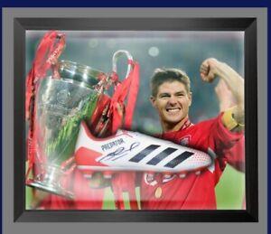 Steven Gerrard Liverpool Hand Signed And Framed Football Boot £150