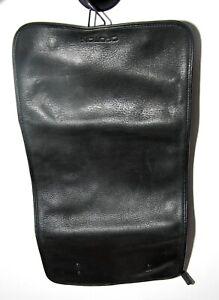 OROTON Black Genuine Leather Toiletries Bag Wet Hanging Pack