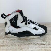 Nike Air Jordan True Flight Boy's Size 4Y White Black Red 343795-103 Womens 5.5