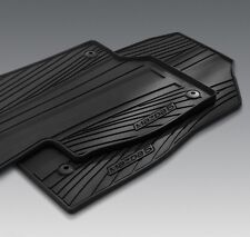 2014 - 2017 Mazda6 Genuine OEM All weather Floor Mats set of 4 : Charcoal Black