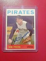 1964 TOPPS Signed Autograph #20 Bob Friend Pirates ExMT Nice!