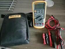 Fluke 87V True RMS Digital Multimeter. Test Leads Set and Fluke carry case.