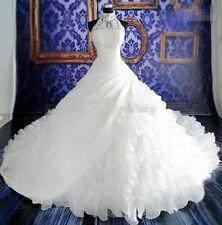 New white/ivory Wedding dress Bridal Gown custom size 4-6-8-10-12-14-16-18-20