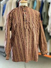 Civil War, Western, 19th century Paisley Striped Re-enacting Shirt - Sz. Xl New
